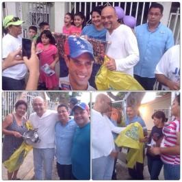 Julio Montoya empieza su fiesta electoral con un llamado a la unidad y no violencia