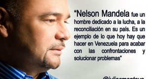 Como ejemplo de  paz y reconciliación Montoya describe a Nelson Mandela