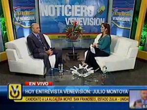 Entrevista Venevisión: Julio Montoya, candidato a la Alcaldía de San Francisco